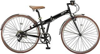 キャプテンスタッグ(CAPTAIN STAG) ブラッシュアップ 700C 折りたたみ自転車 FDB7007 [ シマノ7段変速 / LEDバッテリーライト/前後ステンレスフェンダー/クロスバイク/BAA ]標準装備