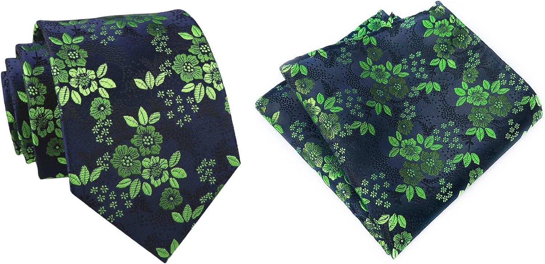 Tie Set for Max 90% OFF Mens Cravat Luxury Floral wi Pattern Necktie Wedding Nippon regular agency