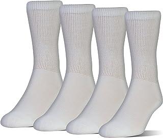 MediPEDS Women's Coolmax Extra Wide Crew Socks, 4-Pack