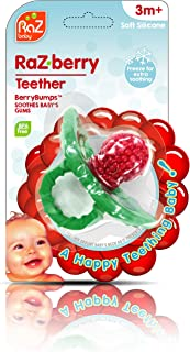 RaZbaby RaZ-Berry Silicone Teether/Multi-Texture...