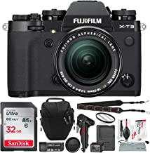 Fujifilm X-T3 Mirrorless Digital Camera (Black) and 18-55mm Lens Kit with 32GB Card and Tripod Accessory Bundle