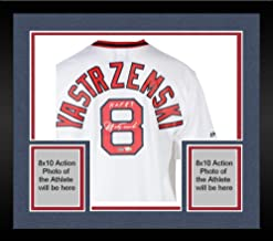 Framed Carl Yastrzemski Boston Red Sox Autographed Cooperstown Collection White Throwback Jersey with