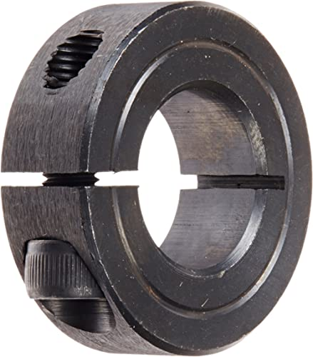 Climax Part 1C-075, Mild Steel, Black Oxide Plating, Clamping Collar, 3/4 inch bore, 1 1/2 inch OD, 1/2 inch Width, 1...