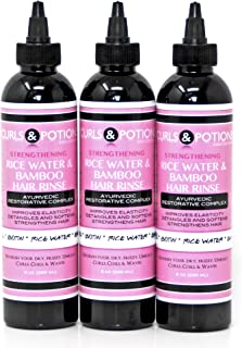 Rice Water Hair Rinse x 3 (BUNDLE) Kit by Curls & Potions