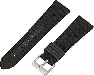 Hadley-Roma Men's MSM848RA 180 18-mm Black Genuine 'Kevlar' Watch Strap