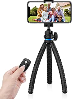 UBeesize Phone Tripod, 12 Inch Flexible Cell Phone Tripod Stand Holder with Wireless Remote Shutter & Universal Phone Mount, Compatible with iPhone/Android/DSLR/GoPro Camera