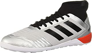Adidas Men's Predator 19.3 Indoor Soccer Shoe, Silver Metallic/Black/hi-Res Red, 11 M US