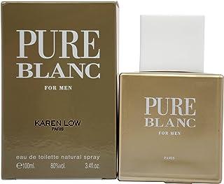 Karen Low Pure Blanc Eau De Toilette Spray for Men, 3.4 Ounce