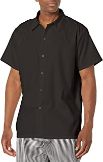 Chef Code Men's No Pocket Cook Shirt Button Down Shirt