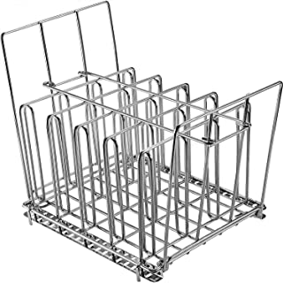 Uarter Sous Vide Rack Stainless Steel for Anova Cookers with Detachable Dividers and 2 No-Float Middle Top Bars, Adjustable, Collapsible Weight-Added Sou Vide Rack for Most 12qt Containers