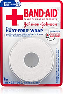 Band-Aid Brand of First Aid Products Hurt-Free Self-Adherent Elastic Wound Wrap for Securing Dressings On Post-Surgical Wounds, Joints, or Other Hard-To-Fit Areas, 1 In by 2.3 yd (Pack of 6)