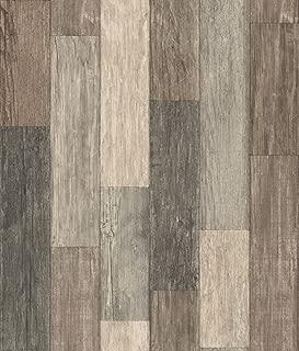RoomMates Dark Weathered Plank Peel and Stick Wallpaper