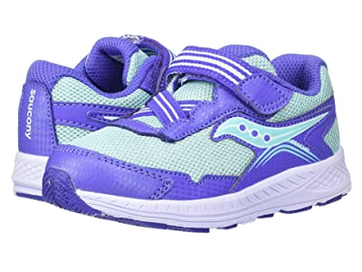 Saucony Kids Ride 10 Jr (Toddler/Little Kid) (Blue/Turquoise) Girls Shoes
