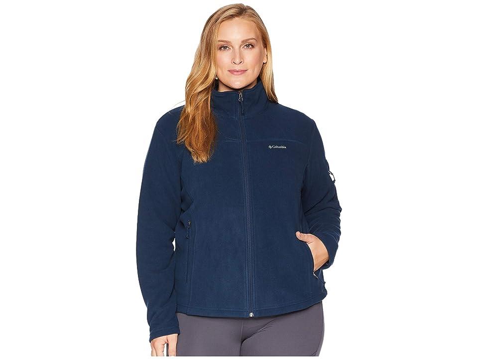 Columbia Plus Size Fast Trektm II Full Zip Fleece Jacket (Columbia Navy) Women