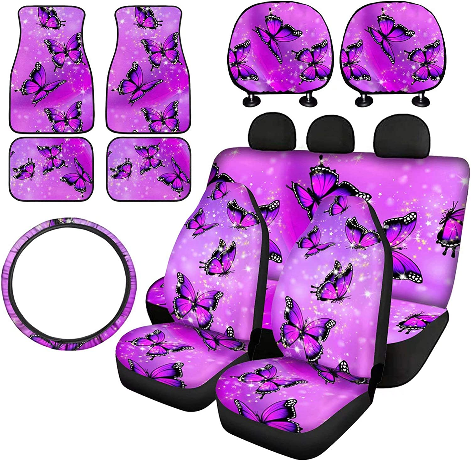 Dolyues Crystal Bling Online limited Phoenix Mall product Butterfly Car Seat Women Covers for Full S