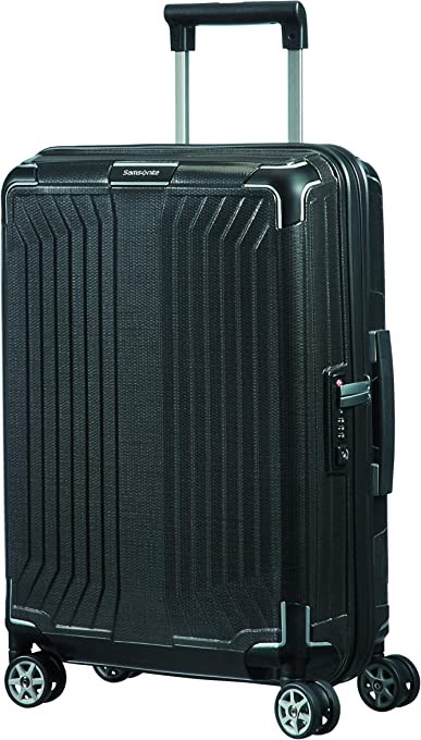 Samsonite Lite-Box Hard Side Spinner Luggage, Black, 55 Centimeters