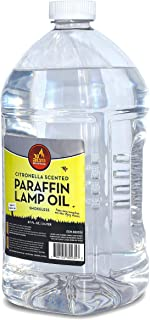 Citronella Scented Lamp Oil, 2 Liter - Smokeless and Odorless Insect and Mosquito Repellent Paraffin Lamp Oil for Indoor a...