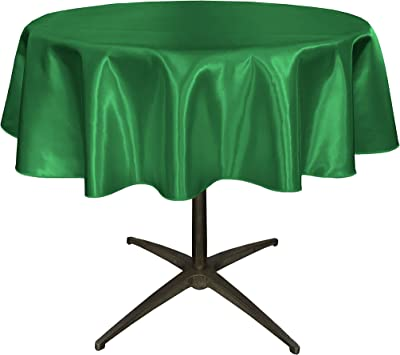 Orange Polyester Poplin Tablecloth 58-Inch Round