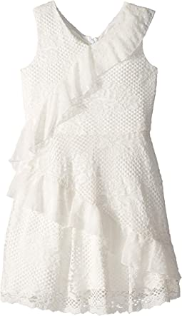 Mixed Lace Dress (Big Kids)