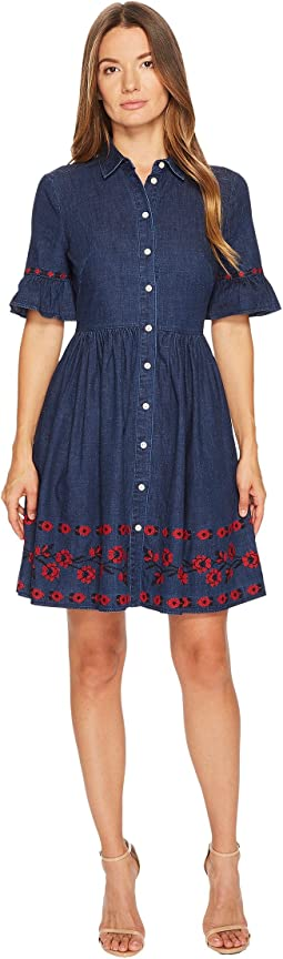 Kate Spade New York - Chambray Embroidered Dress