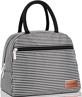 BALORAY Lunch Bag Tote Cooler Bag with 2 Side Pocket Leak-proof Liner Insulated Lightweight Lunch Box Lunch Bags for wome...