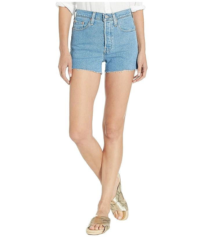 Vintage Shorts, Culottes,  Capris History Levisr Womens 501r High-Rise Shorts Tango Stonewash Womens Shorts $39.99 AT vintagedancer.com