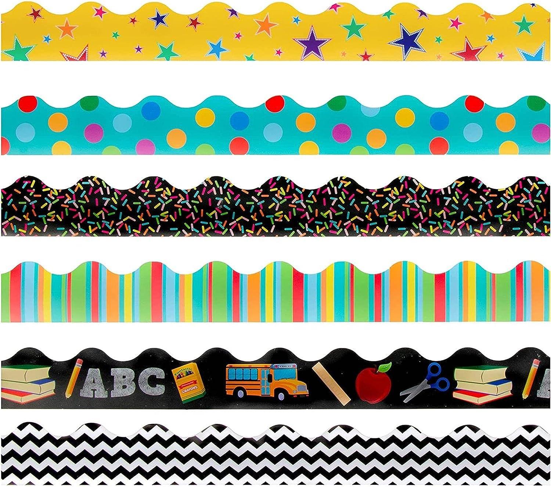Juvale Classroom Bulletin Board Borders Inches 6 New popularity Designs 36 Sale price