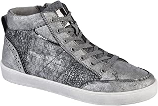 Cipriata Womens/Ladies Aria Metallic Reptile Lace & Side Zip Hi Top Trainers