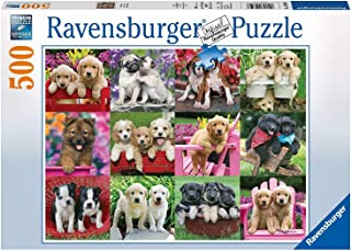 Ravensburger Puppy Pals 500 Piece Jigsaw Puzzle for Adults – Every Piece is Unique, Softclick Technology Means Pieces Fit Together Perfectly