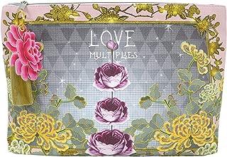 Papaya Art Love Multiplies Floral Art Oil Cloth Large Make-up or Accessory Travel Bag