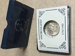 UNCIRCULATED 1982-D George Washington Silver commemorative half-dollar coin - U.S. 90% silver coin was minted at Denver, Colorado Mint