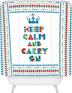 """Deny Designs Andi Bird Keep Calm And Carry On Shower Curtain, 69"""" x 72"""""""