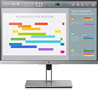 HP EliteDisplay E243i 24-Inch Screen LED-Lit Monitor (1FH49A8#ABA) Black and Silver