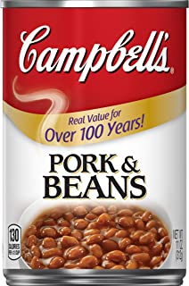 Campbell's Canned Pork & Beans, 11 Ounce Can, Pack of 24