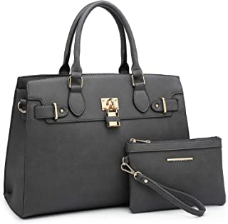 Marco M. Kelly Womens 6669/6244 Christine Padlock Tote Bag