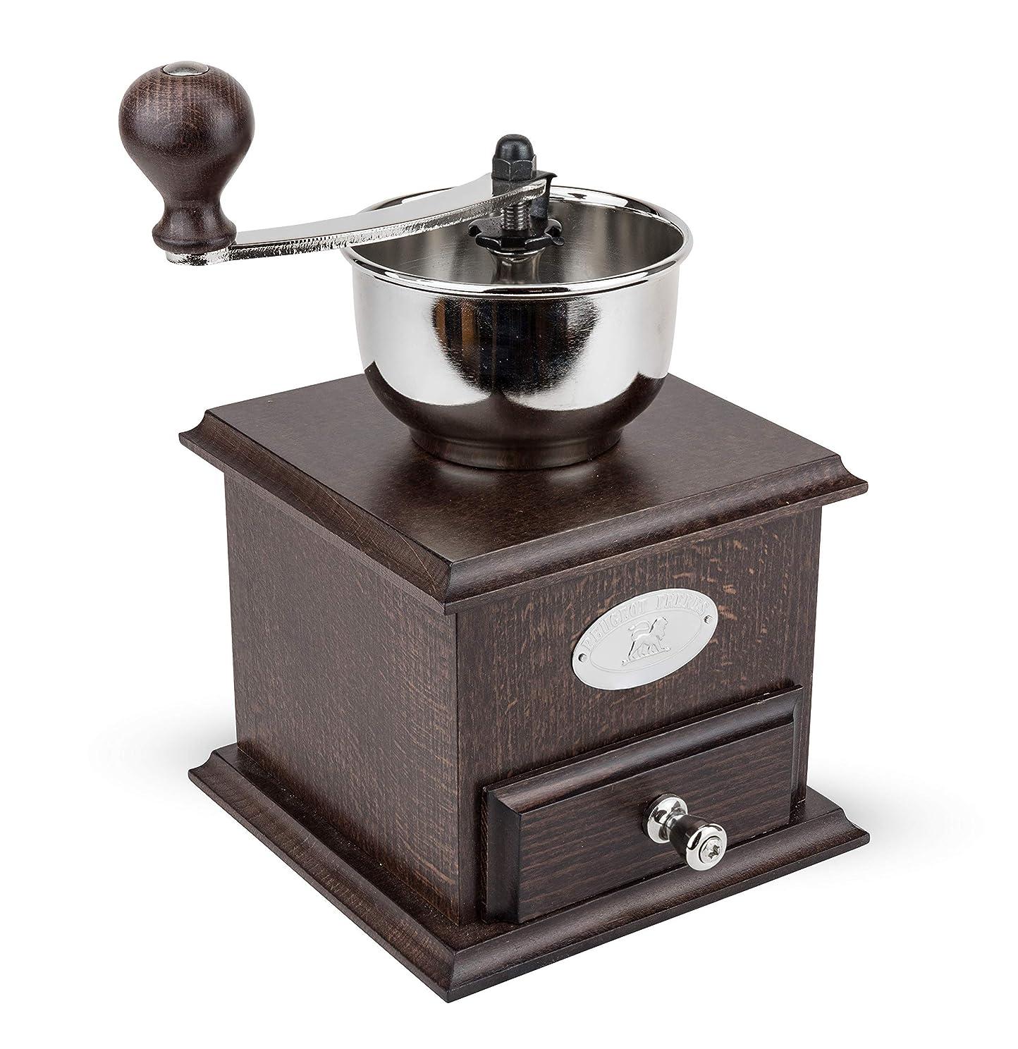 無条件変装した折るプジョー PEUGEOT コーヒーミル 手挽き 粗さ調節 豆容量 25g 22cm 茶木 ブラジル 19401765