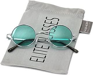 John Lennon Hipster Fashion Sunglasses Small Metal Round Circle Elton Style