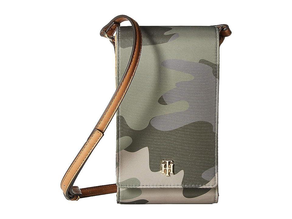 Tommy Hilfiger Julia iPhone Crossbody (Green/Multi) Handbags