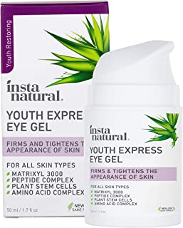 Eye Gel Cream - Wrinkle, Dark Circle, Fine Line, Puffiness, Redness Reducer - Anti Aging Blend for Men & Women with Hyalur...