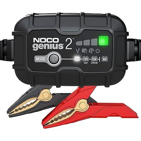 Noco Genius2eu 2a Vollautomatisches Intelligent Ladegerät 6v Und 12v Batterieladegerät Erhaltungsladegerät Und Desulfator Für Auto Motorrad Kfz Lkw Pkw Boot Roller Wohnmobil Und Wohnwagen Auto