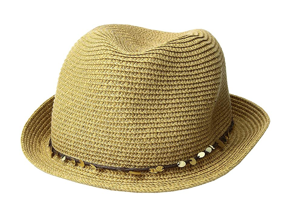 Tommy Bahama - Tommy Bahama Paper Braid Fedora with Sequins Trim