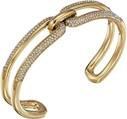 Iconic Link Pave Open Cuff Bracelet