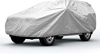 Sojoy Thick Multi-Layered Car Cover Anti-Hail Damage for Sedan, Coupe, SUV, Hatchback in All-Weather(Hail/Rain/Snow/Heat) Waterproof/Dustproof/Scratchproof UV Protection Full Cover (XXL+)