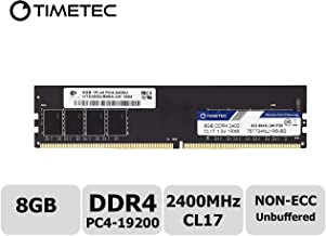 Timetec Hynix IC DDR4 2400MHz PC4-19200 Non ECC Unbuffered 1.2V CL17 2Rx8 Dual Rank 288 Pin UDIMM Desktop PC Computer Memory Ram Module Upgrade (8GB(Single Rank))