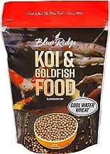 Blue Ridge Fish Food Pellets, Koi and Goldfish Cool Water Wheat Formula, Floating 3/16