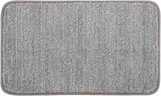 "Lifewit Indoor Doormat Super Absorbent Water Low-Profile Mats 35"" x 24"" Machine Washable Non Slip Rubber Entrance Rug for Front Door Inside Dirt Trapper Mats Shoes Scraper, Grey"