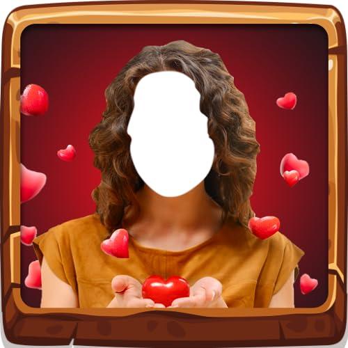 Romantische Frau Fotoeditor