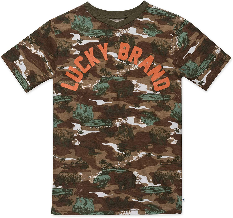 Lucky Brand Boys' Short Sleeve Camouflage Tee Shirt