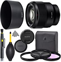 Sony FE 85mm f/1.8 Lens: Full Frame (SEL85F18) + AOM Pro Starter Bundle Kit - International Version (1 Year AOM Warranty)