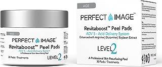 REVITABOOST PEEL Anti-Aging Peel Pads (30) - Enhanced with Glycolic | TCA | Mandelic Acid | Arginine | Glutamine | Soybean